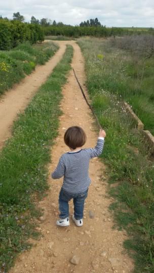 niño con palo